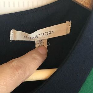 41 Hawthorn Dresses - Sleeveless business two-tone dress